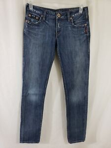 Silver-Jeans-Monica-Skinny-Fit-Womens-Blue-Denim-Size-29-x-33-Med-Wash-Low-Rise