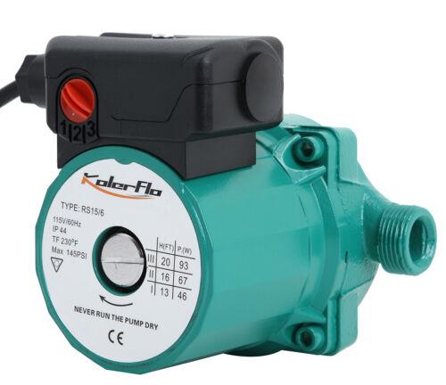 KOLERFLO 3//4 NPT 110V Water Pump Circulation Pump for Solar Heater