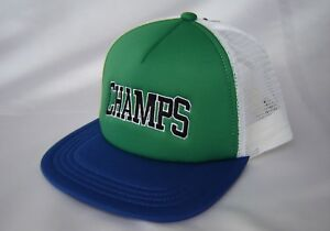 c7c2bfbad Details about Topman Baseball Cap Champs Green Blue White Design Holiday  Festival NEW £15