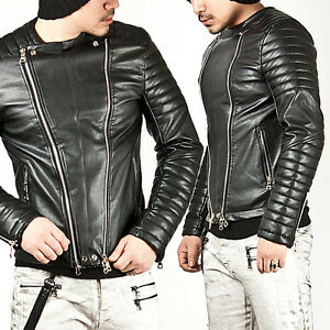 New Mens Fashion Designer Motive Padded Shoulder Masculine Rider ...