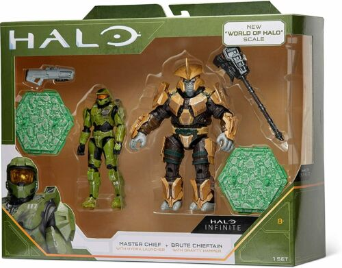 """Halo Infinite /""""World of Halo/"""" deux Figurine Pack-Master Chief vs Brute Chieftain"""