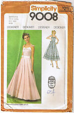 Vintage 70s Jessica Gunne Sax Straps Party Prom Dress Sewing Pattern Size 6 8