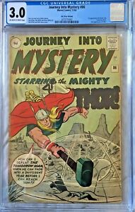 JOURNEY-INTO-MYSTERY-86-CGC-3-0-1962-1st-Odin-4th-Thor-RC-9d-SilverAge-Comic