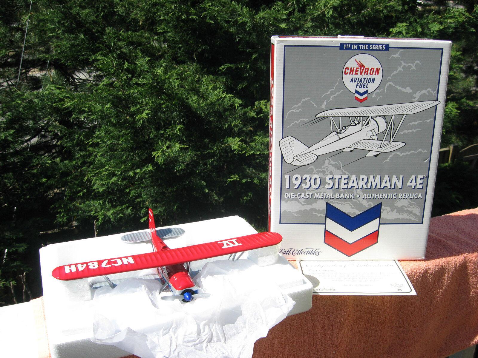 ERTL Collectibles 1930 Stearman 4E Chevron aviation 1st en série échelle 1 38  NOUVEAU