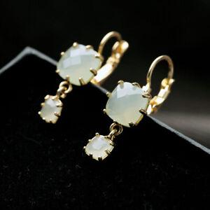 WHE907-White-Chapel-Bridal-Green-Crystal-Moon-Stone-Dang-Candy-Gemstone-Earrings