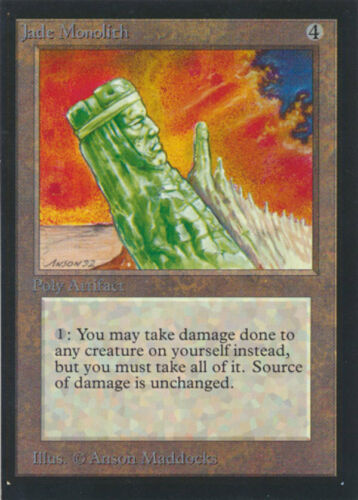 MTG Magic the Gathering Collector/'s Edition Jade Monolith MINT Condition!!
