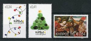Cyprus 2016 MNH Christmas Tree Nativity 3v Set Stamps