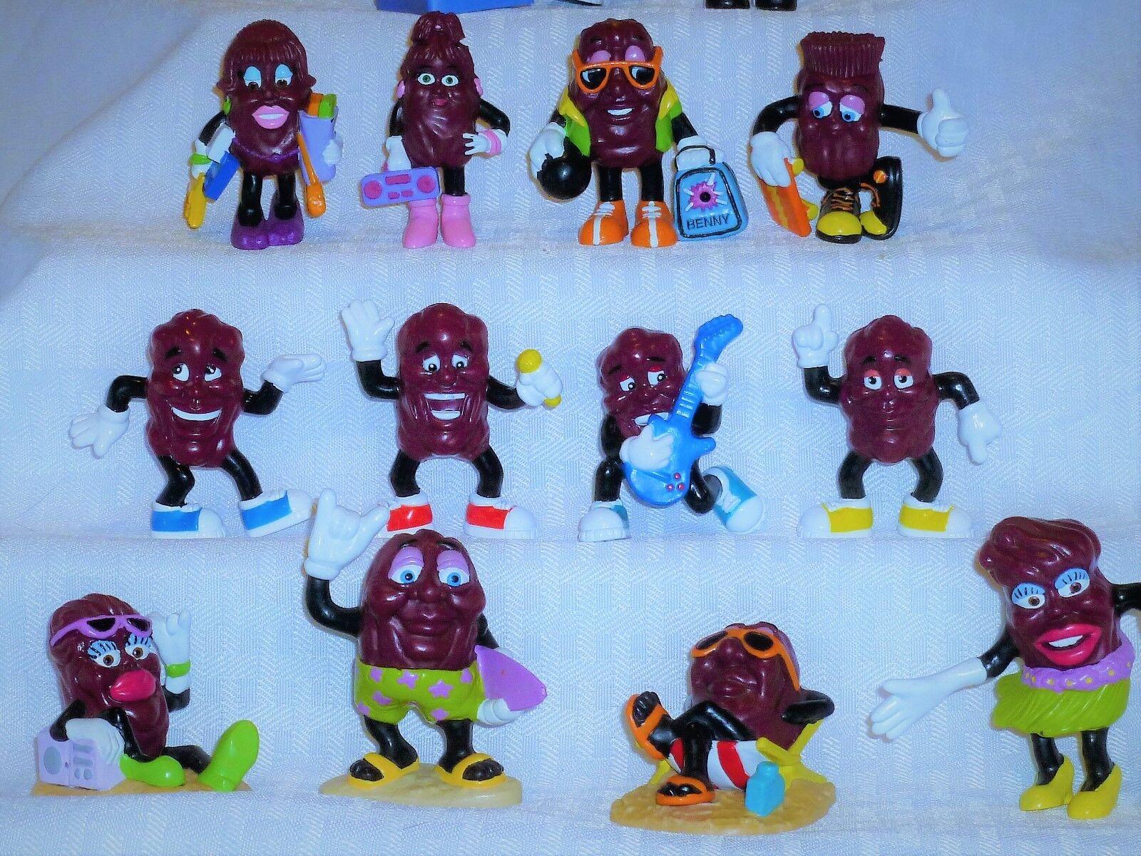 California Raisins, Set of Fourteen Fourteen Fourteen (14), Each One Different, 2  to 2 1 2  Tall b42c65