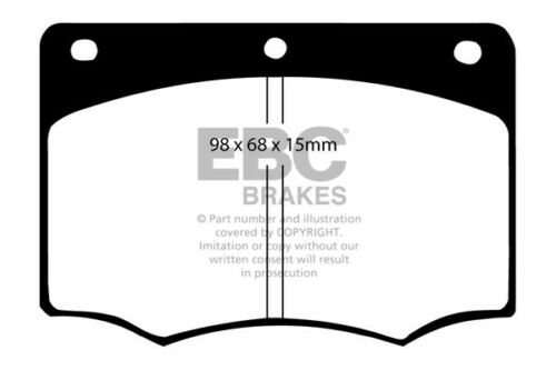 EBC Ultimax Front Brake Pads for Ford Granada 2.8 Saloon 77 /> 79