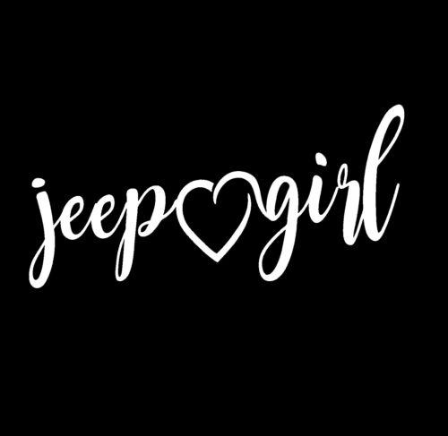 Jeep Menina Coração Adesivo De Vinil engraçado Decalque Janela Carro De Corrida