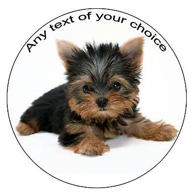Yorkshire Terrier dog Personalised Icing Cake Topper Yorkie birthday decoration
