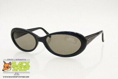 Importato Dall'Estero Decho Vintage 90s Women's Sunglasses, Oval Lenses Deep Blue Acetate, Nos 1990s Acquista Sempre Bene
