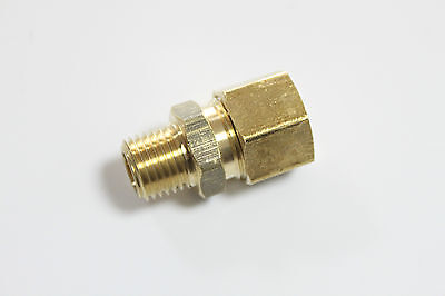 "Pack of 5 New Brass 1/8"" OD x 1/8"" Male NPT Compression Connector Fitting"