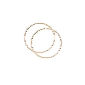 nouveau produit 95eea f6c54 Détails sur 9ct Or Jaune 19mm petites tube créole boucle d'oreille / Créoles