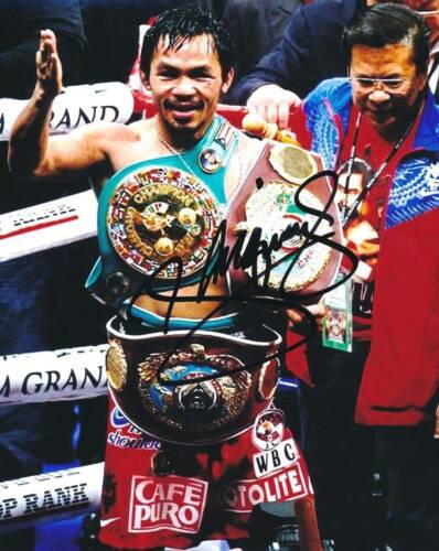 P079 Manny Pacquiao Signed 8x10 Photo (Pacquiao COA)