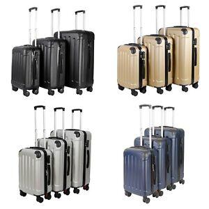 Vossbach 3tlg funda set carcasa dura 4 rollos carcasa rígida maleta set maletín M L XL