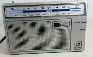 Vintage-GE-General-Electric-FM-AM-Portable-Radio-AC-amp-Battery-Powered-7-2665B