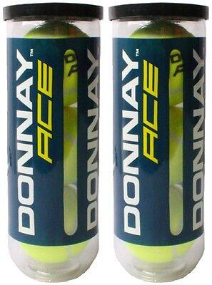6x Donnay Ace Tennisbälle Tennis-bälle Gelb Mit Vakuumverschluss Itf Approved