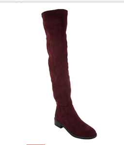a32acda8406 Franco Sarto Faux Suede Over-the-Knee Boots - Bailey Dark Burgundy 5 ...