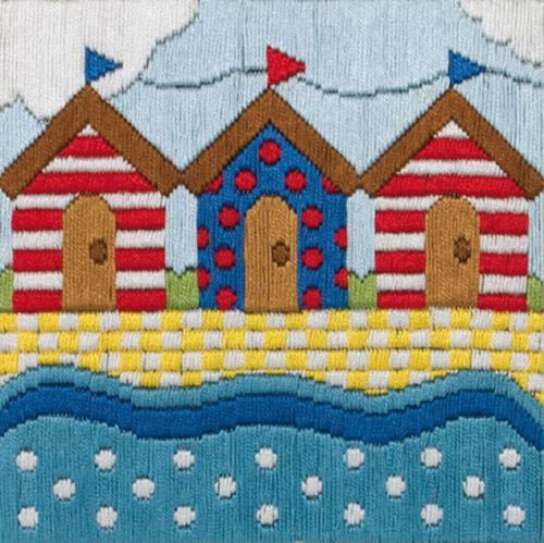 1x Long Stitch Kit Beach Huts Sewing Craft Tool Hobby Art UK Bulk Filoro