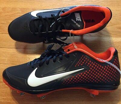 Team Sports Nike Zoom Vapor Elite Men's Metal Baseball Cleats Size 12.5 Nwob 538553-081