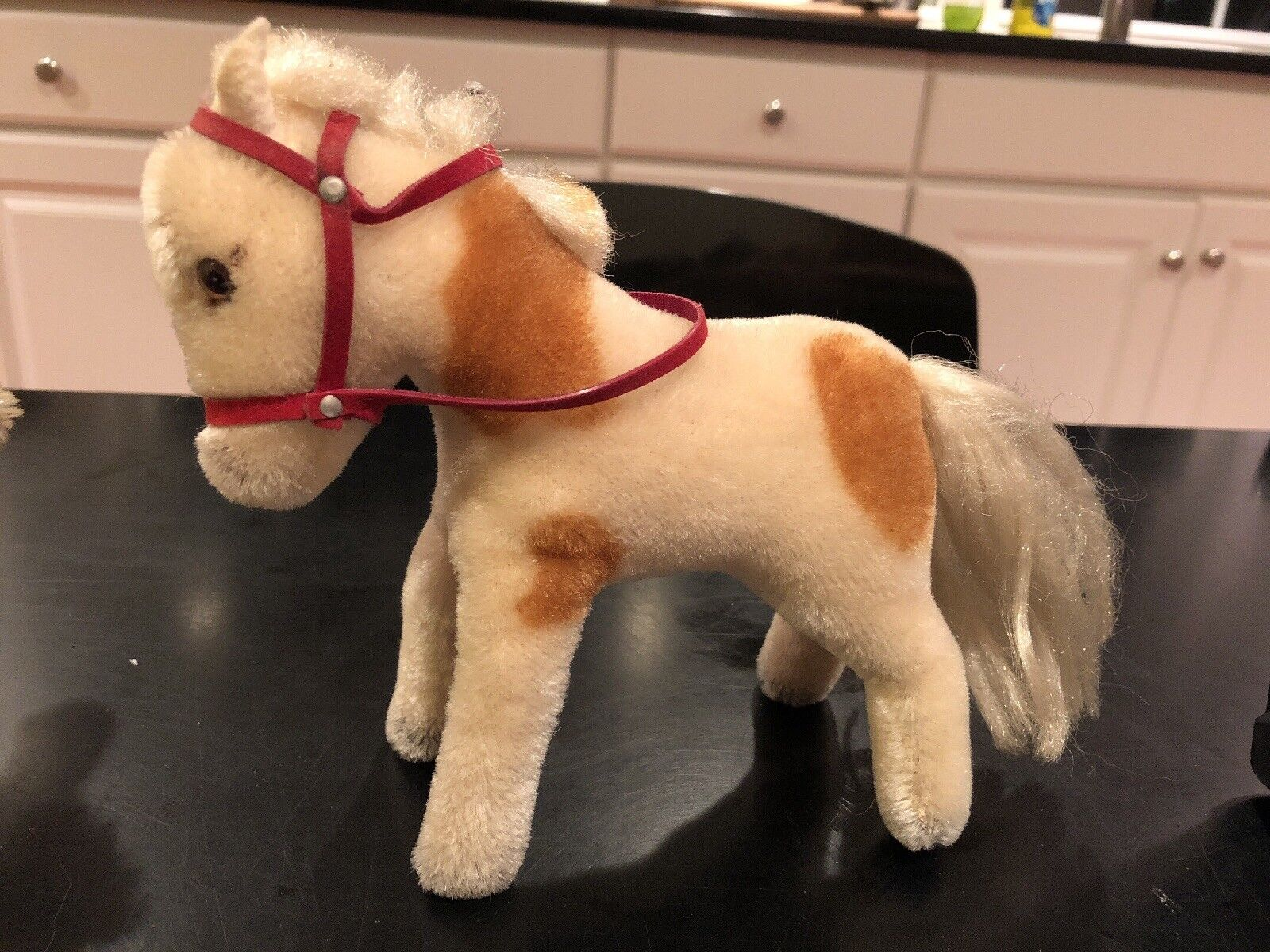 Vintage Steiff standing Horse With rosso Bridle