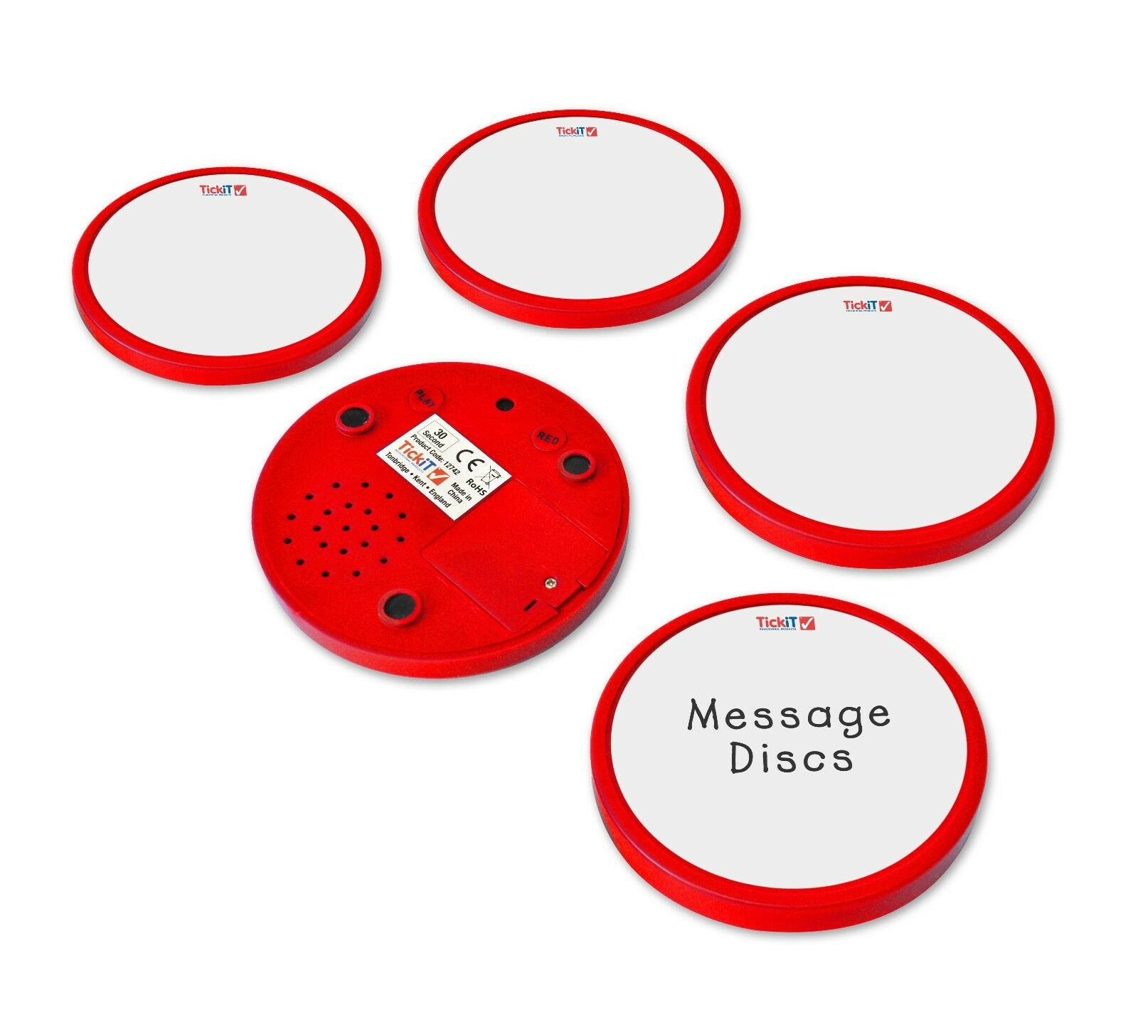 Record a Message Discs (Red)
