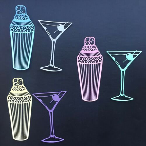 For cardmaking Cocktail Die Cuts Assorted sets of 6 pcs crafting