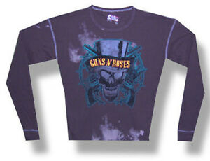 df2bb5bf997 Guns N Roses-Top Hat Skull-SWAG-Brown-XL Thermal Longsleeve ...
