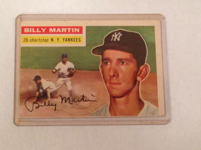 1956 Topps Billy Martin 181 Baseball Card