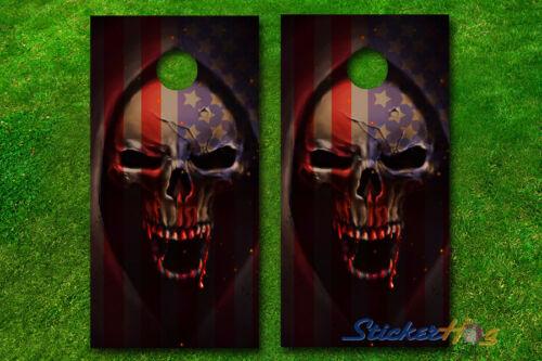 VINYL WRAPS Grim Reaper Cornhole Boards DECALS