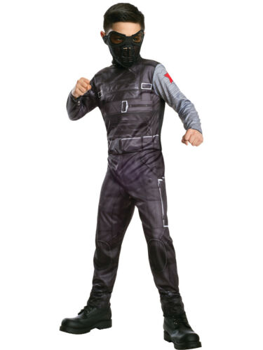 Childs Marvel Captain America Bucky Winter Soldier Jumpsuit Costume Small 4-6