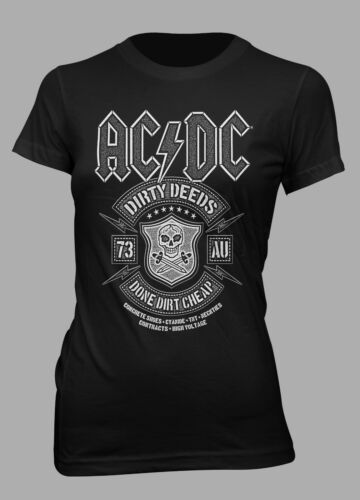 ACDC  Dirty Deeds Official Women/'s Black T-Shirt