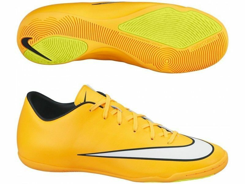 Nike Mercurial Victory   Ic Indoor Soccer Cr7 Zapatos De Fútbol láser naranja negro