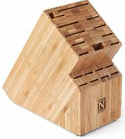 Cook N Home Bamboo Knife Storage Block , New, Free Shipping on sale