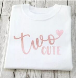 Second Birthday Girls T Shirt 2nd Birthday Top Two Cute Ebay