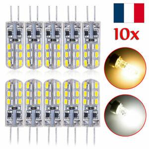 10x-G4-2W-SMD-3014-DC-12V-LED-Ampoule-lampe-Blanc-chaud-Blanc-FR