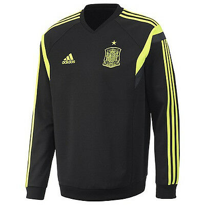 adidas Spain World Cup WC 2014 Training Soccer Jersey New Neon Yellow //Black
