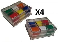 4 PACKS OF 60 X TOKENS / POKER CHIPS / COUNTERS + CASE FREE P+P ROULETTE