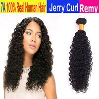 Jerry Curl 100% Virgin Human Hair Weave Ali Bundles (10 - 30) - Natural Black