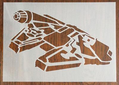 Millennium Falcon Star Wars Stencil Reusable Pp Sheet For