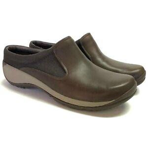 Merrell-Encore-Q2-Slide-Mesh-Women-10-41-Clogs-Shoes-Brown-Leather-NEW