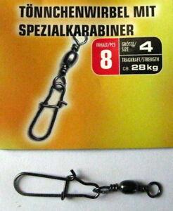 Toennchenwirbel-mit-Spezialkarabiner-Behr-Gr-4-oder-6-schwarz-hohe-Tragkraft