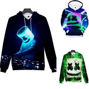 Marshmello DJ Boy Girl Kids Casual Hoodies Sweatshirt Spring Fall Costumes Set 4