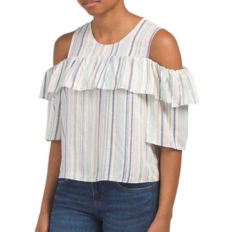 BCBG MAXAZRIA Cold Shoulder Top Blouse   Sz SM. NWT Brand NEW   Dress Pants