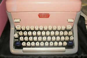 Antique 1959 Royal Pink Model FP Vintage Typewriter  FPE-6740725 Vintage Old