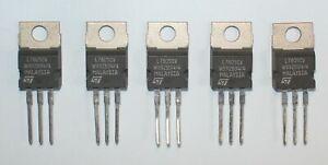 Lot de 5 régulateur L7805CV fabriqués par ST : 5 x  5V 1,5A  en TO-220
