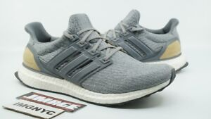 ebfd75166229e ADIDAS ULTRA BOOST 3.0 LTD USED SIZE 9.5 GREY TAN LEATHER CAGE ...