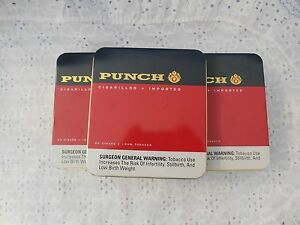LOT OF 7 EMPTY CIGAR TINS PUNCH CIGARILLOS WASHED TINS TINS ONLY!