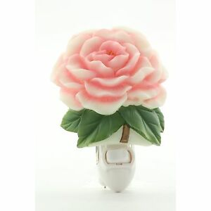 Camellia Hand Painted Molded Marble Night Light by Ibis and Orchid